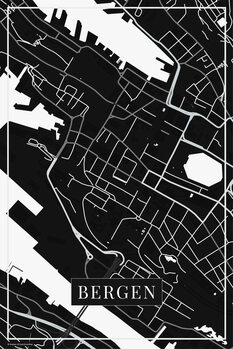 Χάρτης Bergen black