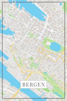 Χάρτης Bergen color