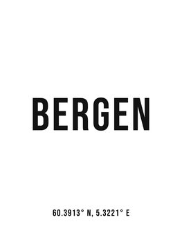 Illustration Bergen simple coordinates