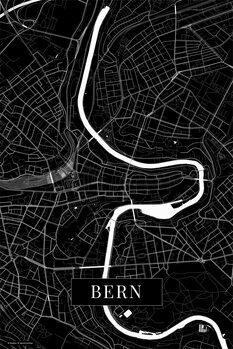 Stadtkarte Bern black
