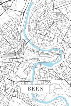 Mapa Bern white