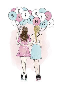 Ilustración Best Friends