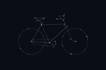 Kunstdruk Bike Constellation