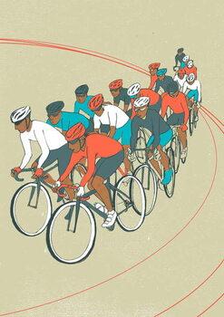 Kunstdruk Bike Race