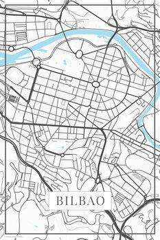 Mapa Bilbao white