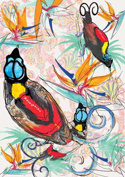 Birds of Paradise, 2013 Kunsttryk