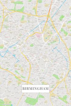 Mapa Birmingham color