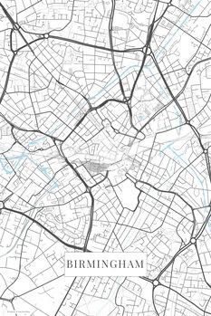 Mapa Birmingham white