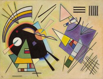 Εκτύπωση έργου τέχνης Black and Violet; Schwarz und Violett, 1923