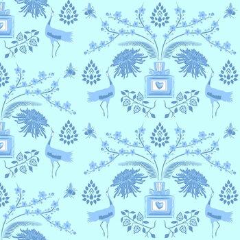 Reprodukcija umjetnosti Blue Floral Scent