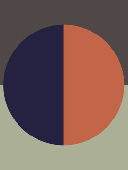 Ilustracija Blue orange sun