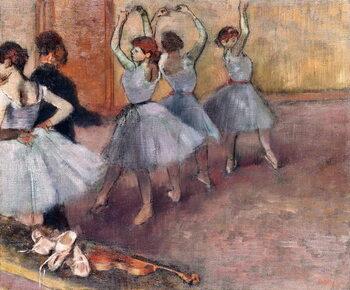 Kunsttryk Blue-Toned Dancers (The Rehearsal in the Foyer de la Danse), c.1882