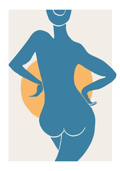 iIlustratie Blue Woman