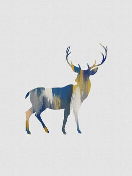 Ilustrace Blue & Yellow Deer
