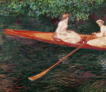 Boating on the river Epte, c.1889-1890 Kunsttryk