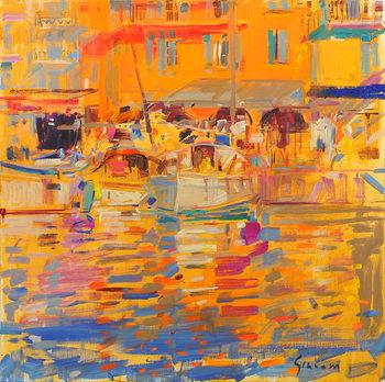 Boats in Harbour, Saint-Tropez Kunstdruk