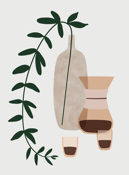 Ilustrácia Boho coffee for two