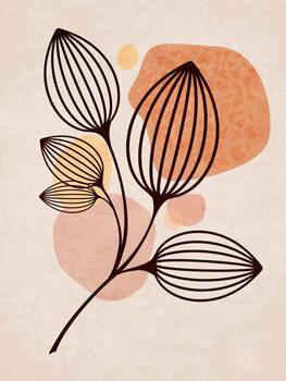 Ilustracija Boho Leaves 05