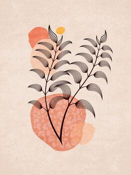 Ilustracija Boho Leaves 07