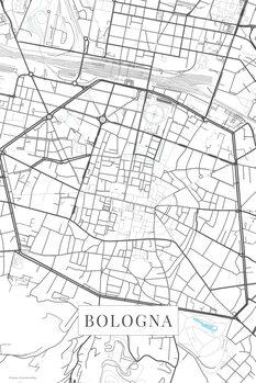 Mapa Bologna white