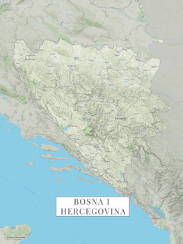 Mapa Bosnia a Hercegovina color