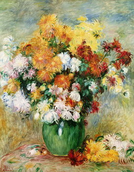 Reproduction de Tableau Bouquet of Chrysanthemums, c.1884