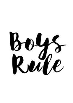 Illustrazione Boys rule