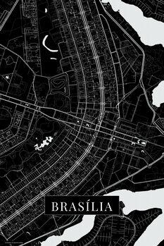Mapa Brasilia black