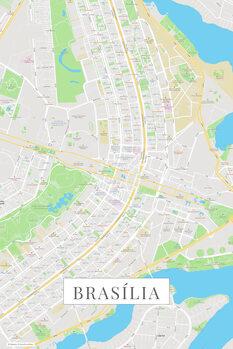 Mapa Brasilia color