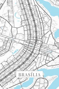Mapa Brasilia white