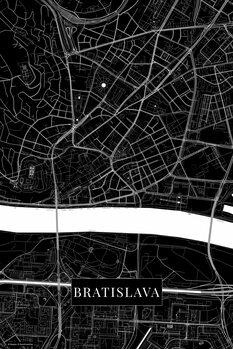 Mapa Bratislava black