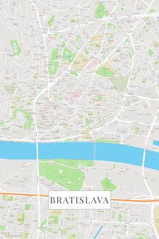 Mapa Bratislava color