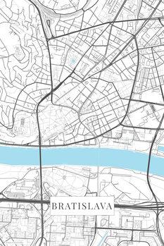 Mapa Bratislava white