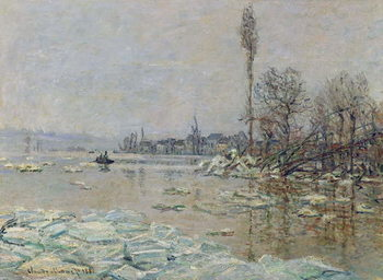 Breakup of Ice, 1880 Reproduction de Tableau
