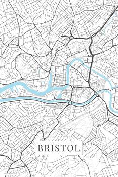 Stadtkarte Bristol white