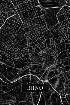 Mapa Brno black