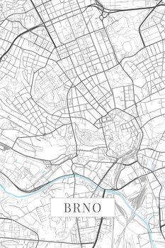 Mapa Brno white