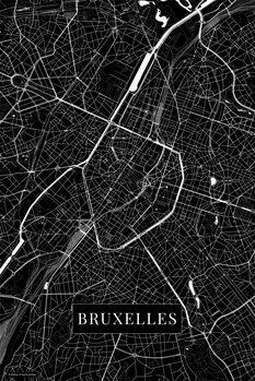 Mapa Bruxelles black