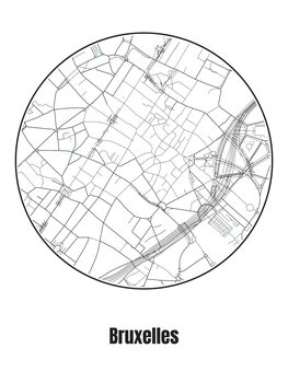 Mapa Bruxelles