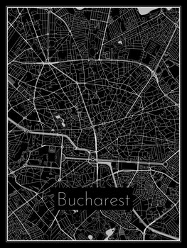 Mapa Bucharest