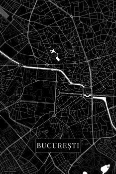 Mapa Bucuresti black