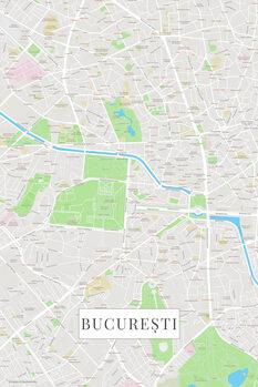 Mapa Bucuresti color