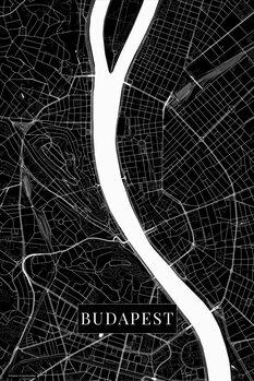 Mapa Budapest black