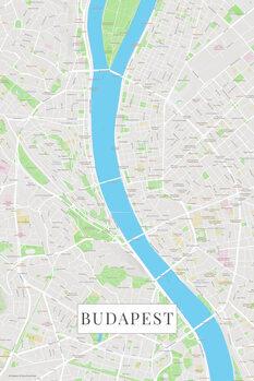 Mapa Budapest color