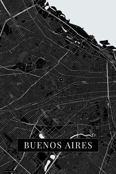 Mapa Buenos Aires black