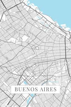 Mapa Buenos Aires white
