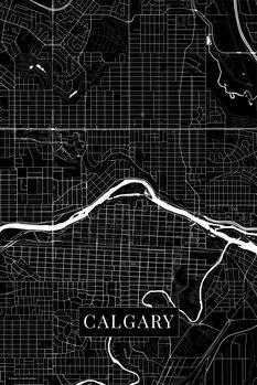 Mapa Calgary black