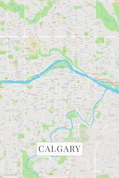 Mapa Calgary color