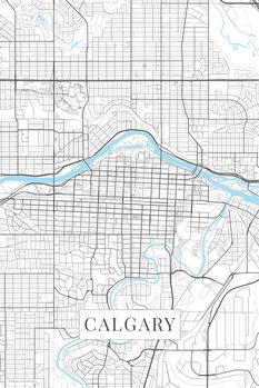 Mapa Calgary white