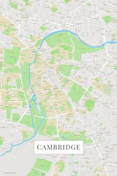 Mapa Cambridge color